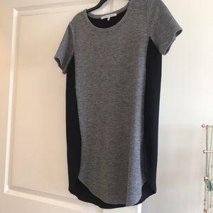 Black and grey shift dresss